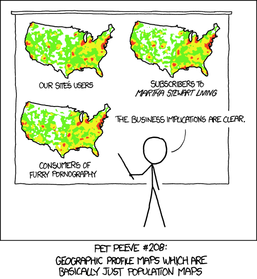 geographic profile maps population maps