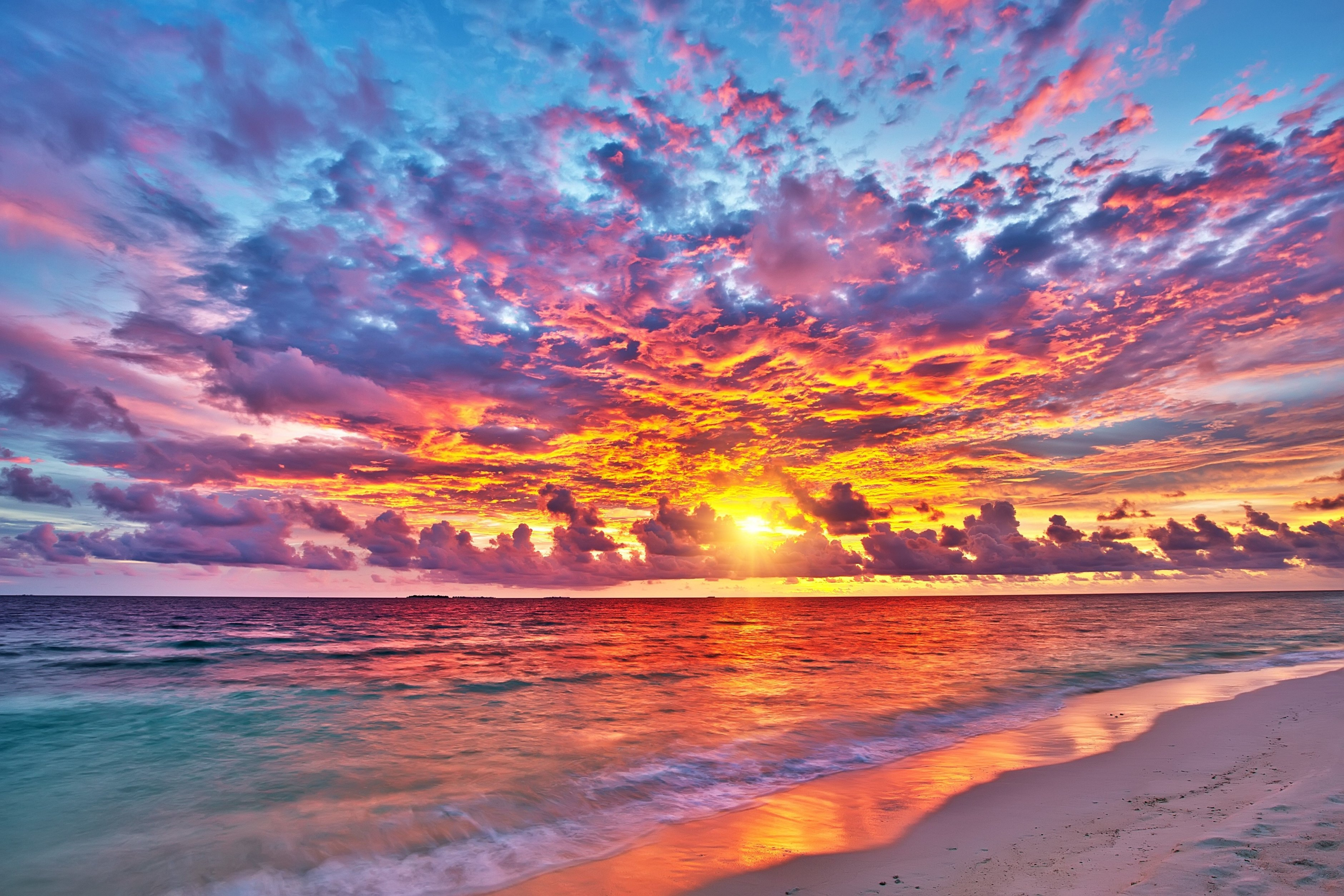 Colorful sunset over ocean on Maldives  S.Borisov  photography