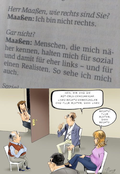 Maaßen interview cartoon fck nzs afd pegida legida