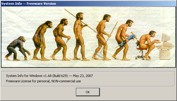 "system info windows 2007 evolution homo computer Human Impacts An anomalous and unbalanced predator ""The fact is, chimpanzees are the more highly evolved species."""