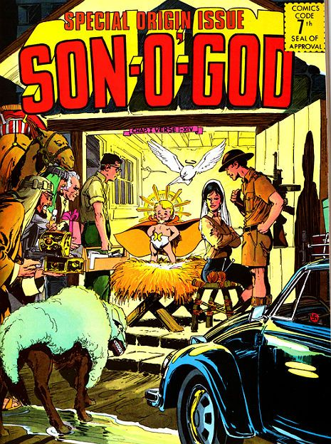 jesus! comic cover son of god #superhero #volkswagen #hakenkreuz