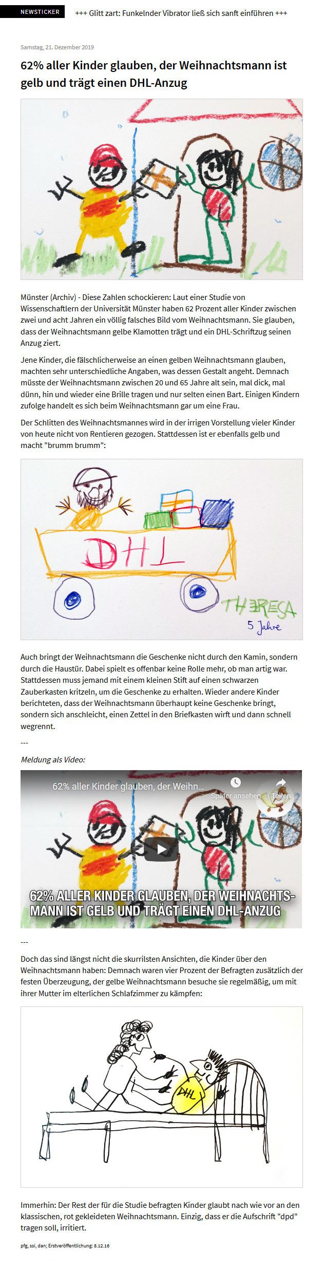 postillon satire dhl santa motherfucker