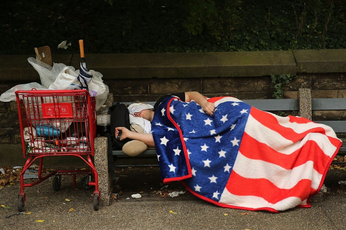 murica poverty flag blanket
