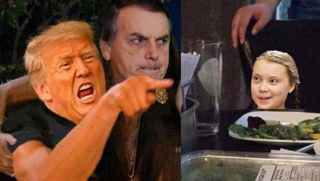 fucktards vs greta fucktard trump bolsonaro meme cat #climate catastrophe #tropen trump #magarine #trump for nuthouse