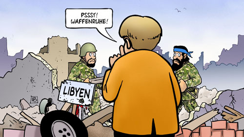 harm bengen cartoon libyen mutti merkel