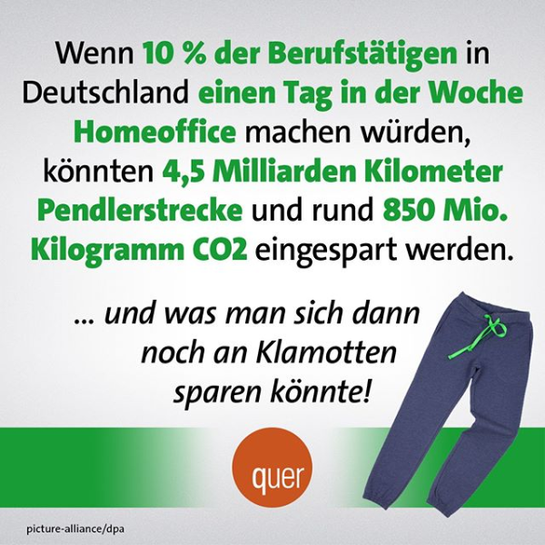 quer br örr satire ... beruf CO2 homeoffice auto klamotten #savetheenvironment deutschland Homeoffice