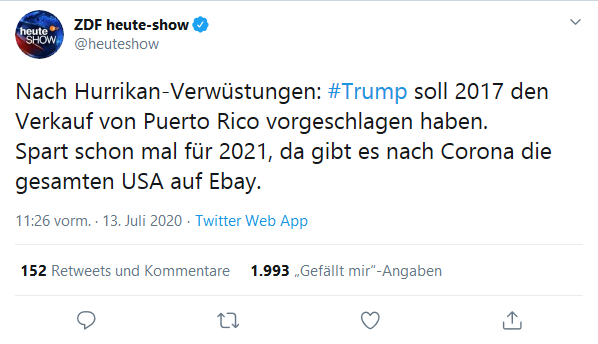 heute-show tweet fucktard trump #trump for nuthouse