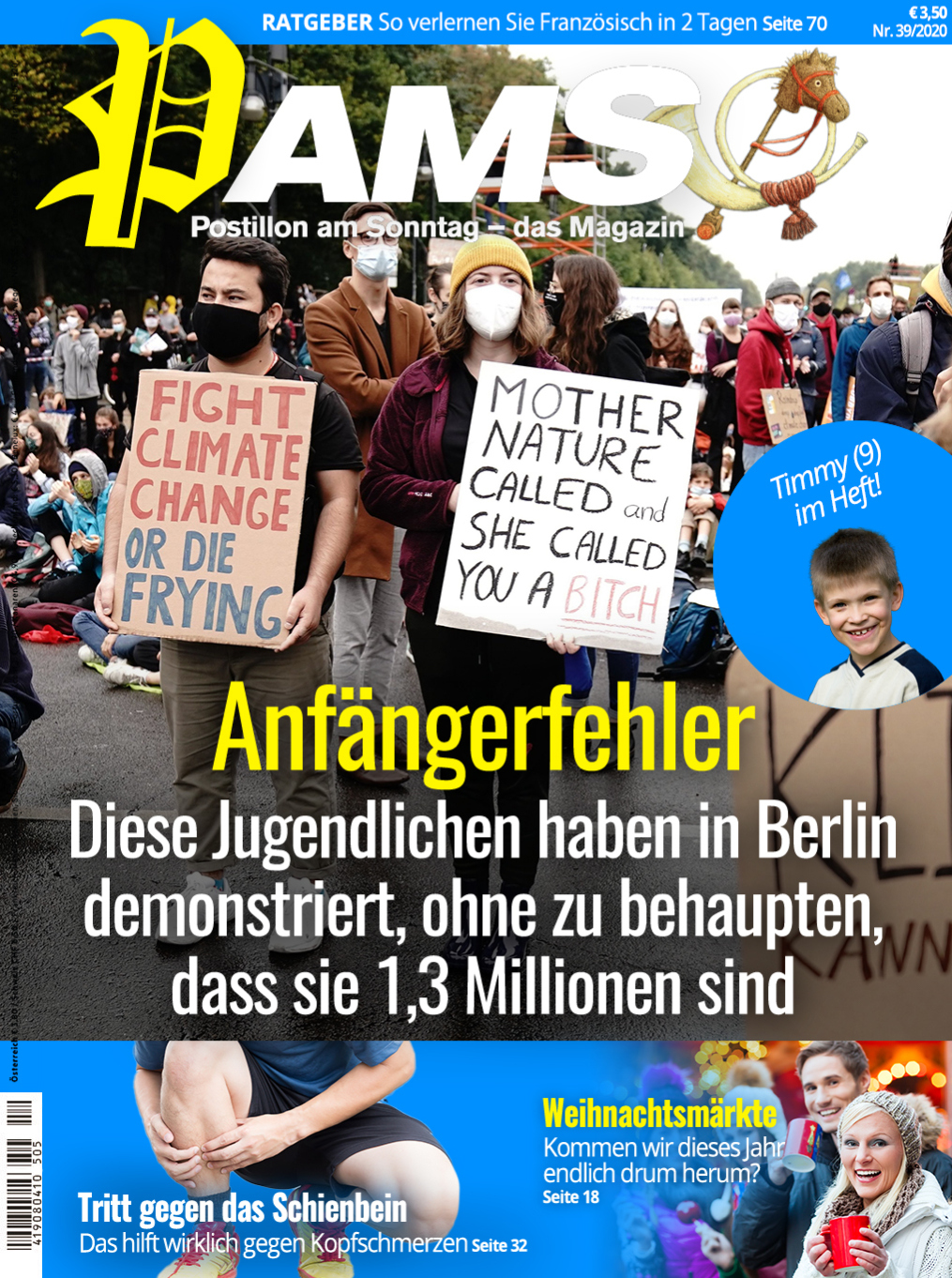 pams postillon satire ... climate catastrophe #fridaysforfuture