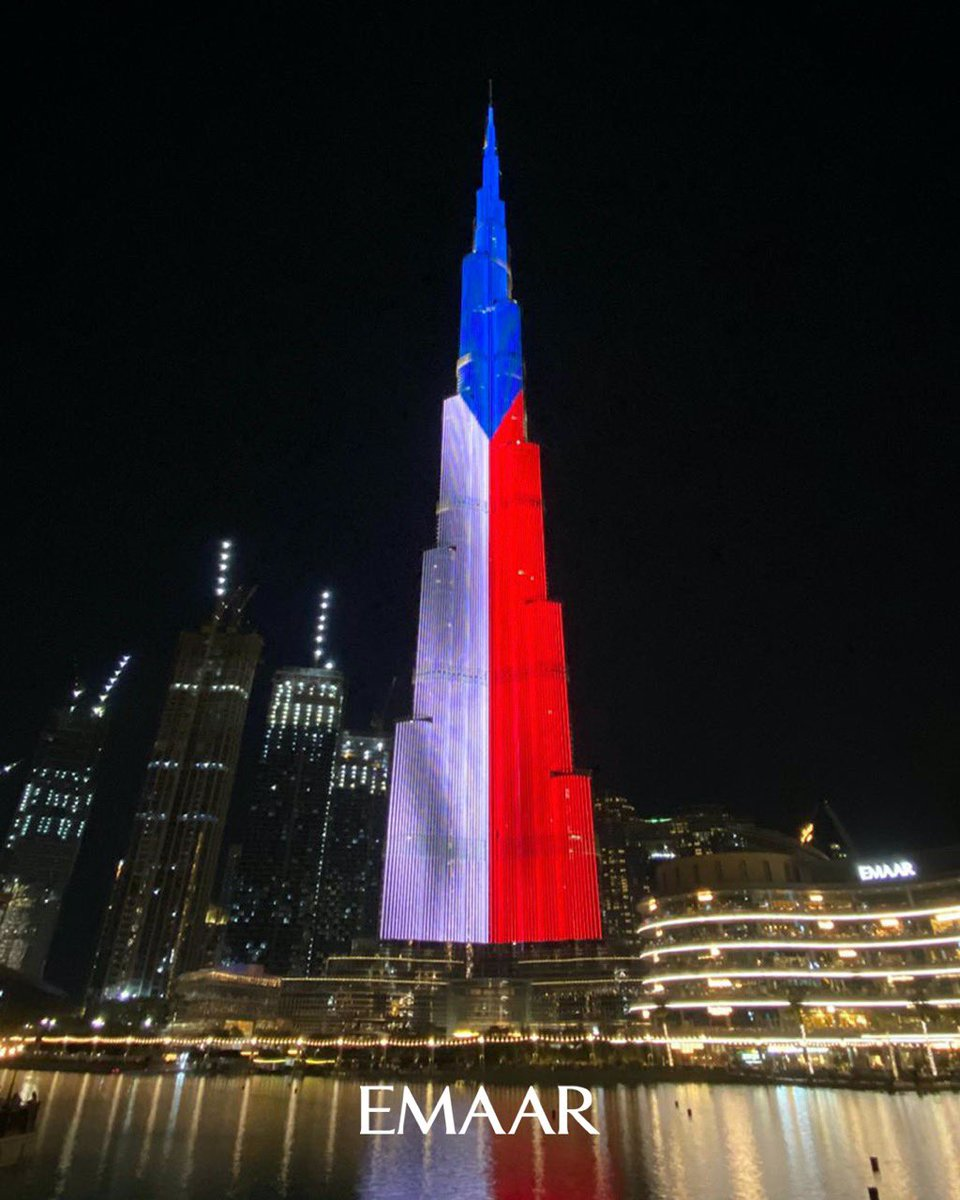 Burj Khalifa Czech national day ❌❌❌ PENIS ❌❌❌
