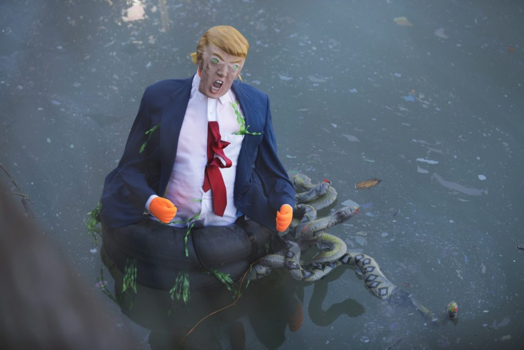 Swamp Trump by Paul Frangipane / Brooklyn Eagle Fucktard #Drain the swamp ! #trump for prison