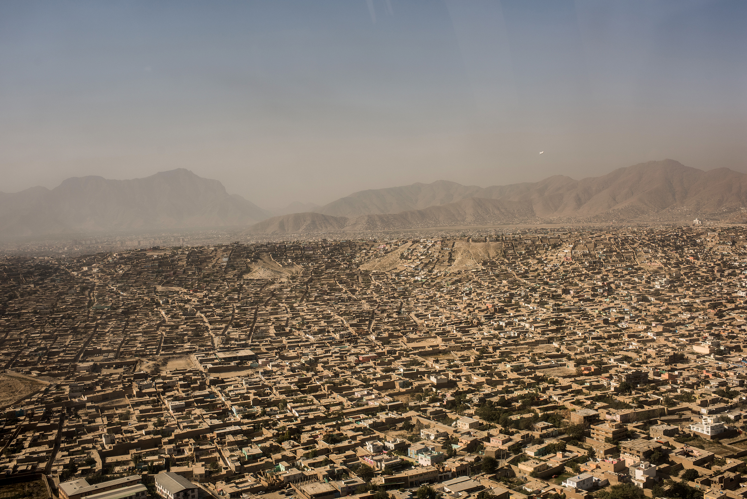 An aerial view of Kabul from a helicopter in Kabul, Afghanistan on September 5, 2017.Andrew Renneisen / Getty Images file