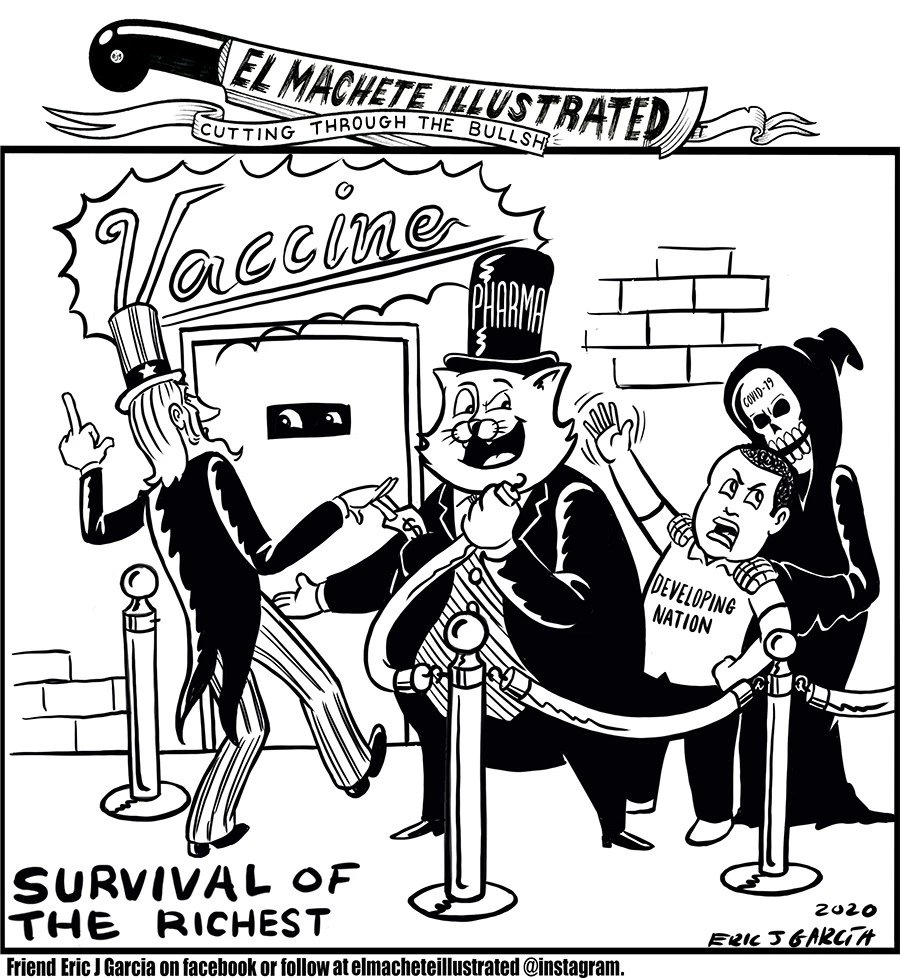 garcia cartoon #corona climate extinction capitalism catastrophe # covid-19 #eattherich vaccine