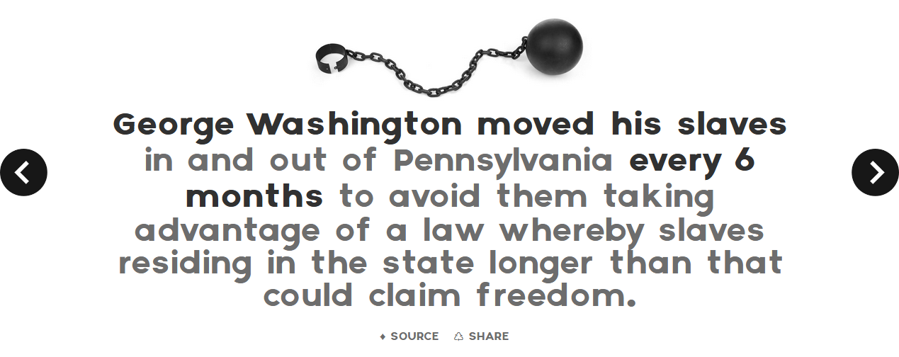 random facts washington slaves pennsylvania murica