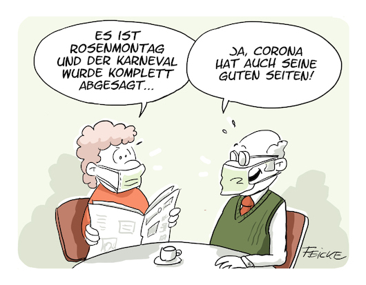 feicke cartoon rosenmontag 2021